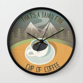 Damn Fine Cup of Coffee Wall Clock