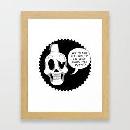 Fez Skull Framed Art Print