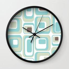 Retro Rectangles Mid Century Modern Geometric Vintage Style Wall Clock