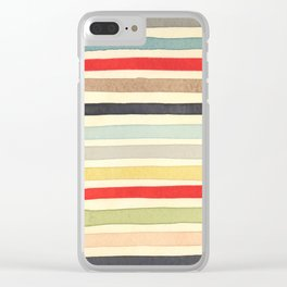 Stripes Watercolor Paint Robayre Clear iPhone Case