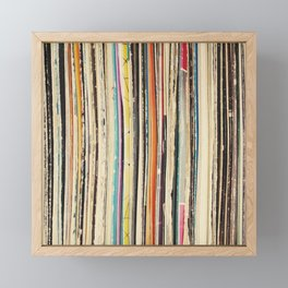 Record Collection Framed Mini Art Print