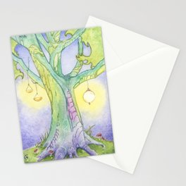 Evening Tree Sprites Stationery Cards