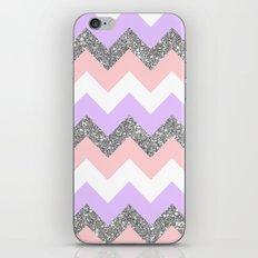 purple & coral chevron iPhone & iPod Skin