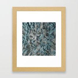 Floral Fantasy 07 aqua Framed Art Print