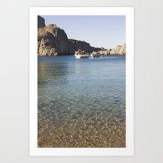 Boats and sea Art Print