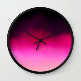 Purple and Black Abstract Wall Clock