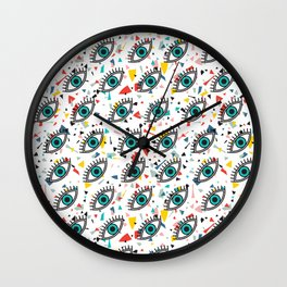 Evil Eyes Wall Clock