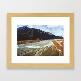 Glacier Runoff Framed Art Print