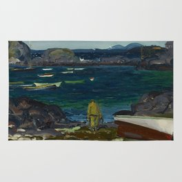 The Harbor, Monhegan Coast, Maine, 1913 Rug
