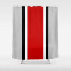 OSU Helmet Stripe Shower Curtain