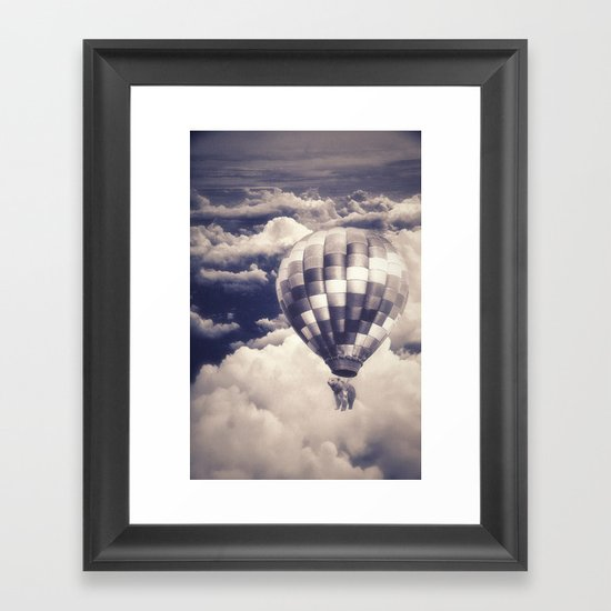 Balloon Bear Framed Art Print
