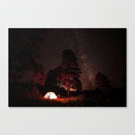 Camping out at Zion National Park's West Rim Trail at about 7,000 feet. Canvas Print