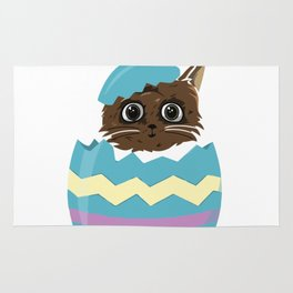 Easter Egg Cat Rug