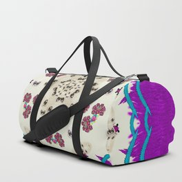 Eyes looking for the finest in life as calm love Duffle Bag