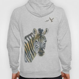 Zebra and Birds Hoody