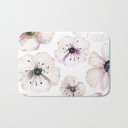 Moon flowers Bath Mat