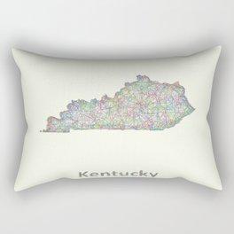 Kentucky map Rectangular Pillow
