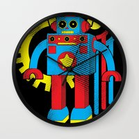 law Wall Clocks featuring Asimov's Law by Maggie Davidson