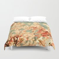 spring Duvet Covers featuring Pink by Olivia Joy StClaire