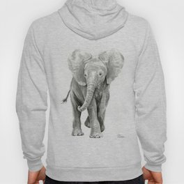 Baby Elephant Watercolor Hoody