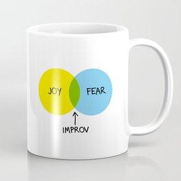 The Venn of Improv (Yellow/Blue) Coffee Mug