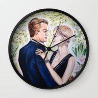 gatsby Wall Clocks featuring GATSBY - DAISY by Sam Parigi