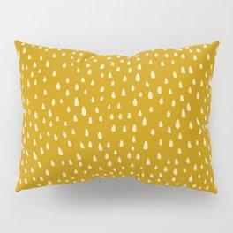 Mustard Paint Drops Pillow Sham