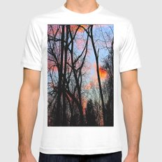 Sunset Through the Tangled Trees Mens Fitted Tee MEDIUM White
