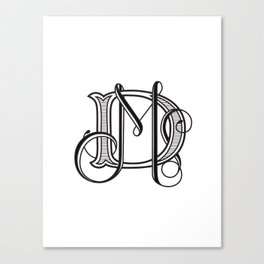 monogram DM Canvas Print