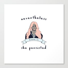 Nevertheless, Laverne Cox Persisted Canvas Print