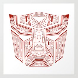 Autobot Tech Red Art Print