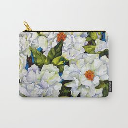 Floating - White Peonies Carry-All Pouch