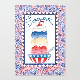 Summer Sundae Canvas Print