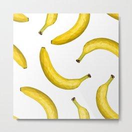 Yellow ripe banana Metal Print