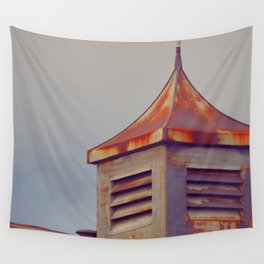 Rusted Rooftop Wall Tapestry
