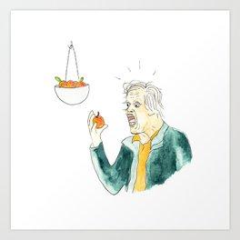 Gary Busey Eats a Peach Art Print