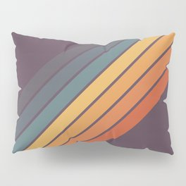 Classic 70s Style Retro Stripes - Dalana Pillow Sham