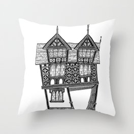 The gateway House Throw Pillow