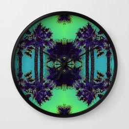 Hawaiian Neon Summer Nights Wall Clock