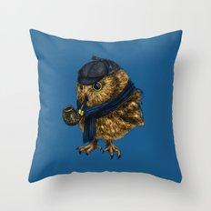 Sherlock // owl Throw Pillow
