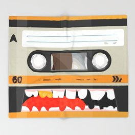 The cassette tape golden tooth Throw Blanket