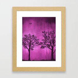 Purple Silhouette Framed Art Print
