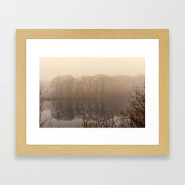 Foggy springtime Reflections Framed Art Print