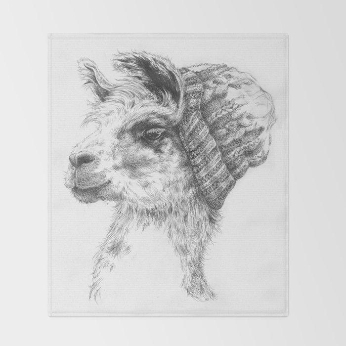 Wooly Llama Throw Blanket By Bethsteinbauer Society40 Fascinating Llama Throw Blanket