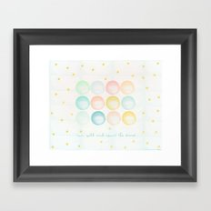 Run Wild & Count the Stars Framed Art Print