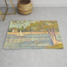 """Georges Seurat """"The Seine at La Grande Jatte"""" Rug"""