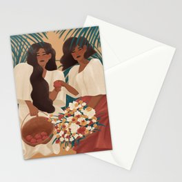 Filipina Beauties and Apples Stationery Cards