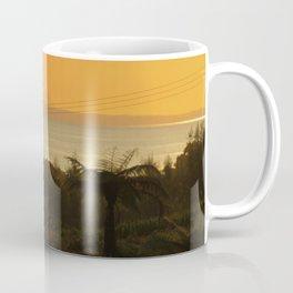 Te Kaha views featuring Putauaki - Mt Edgecombe Coffee Mug