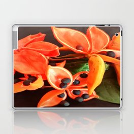 STUNNING ORANGE BLOOMS Laptop & iPad Skin