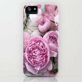 Shabby Chic Pastel Lavender Pink Peonies iPhone Case